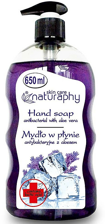 """Antibacterial Soap """"Lavender"""" with Aloe Vera Extract - Bluxcosmetics Naturaphy Hand Soap"""