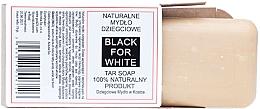 Fragrances, Perfumes, Cosmetics Natural Tar Soap - Biomika Black For White