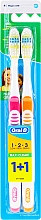 Fragrances, Perfumes, Cosmetics Toothbrushes Set (medium, orange+pink) - Oral-B 1 2 3 Maxi Clean 40 Medium 1+1