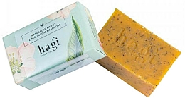 Fragrances, Perfumes, Cosmetics Natural Soap with Sea Buckthorn Oil and Poppy Seeds - Hagi Natural Soap