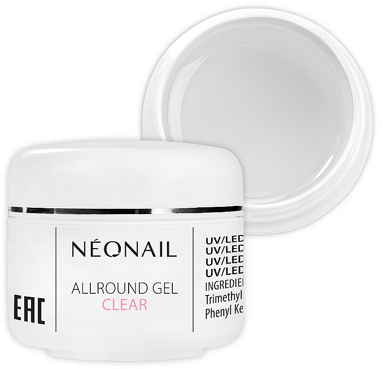 1-Phase Clear Gel - NeoNail Professional Allround Gel Clear — photo N1