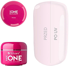 Fragrances, Perfumes, Cosmetics Nail Extension Gel - Silcare Base One UV Gel Builder Pink