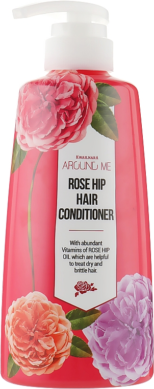 Hair Conditioner with Rosehip Extract - Welcos Around Me Rose Hip Hair Conditioner