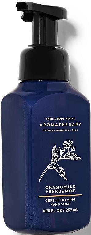 Foaming Hand Soap - Bath and Body Works Aromatherapy Bergamot Chamomile Gentle Foaming Hand Soap — photo N1