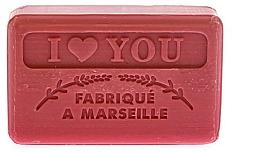 "Fragrances, Perfumes, Cosmetics Marseilles Soap ""I Love You"" - Foufour Savonnette Marseillaise I Love You"