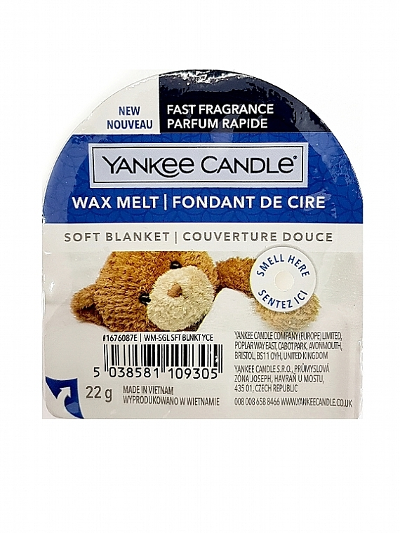 Scented Wax - Yankee Candle Soft Blanket Wax Melt