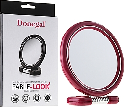 Fragrances, Perfumes, Cosmetics Round Double-Sided Mirror on Stand, 12 cm, 9504, pink - Donegal Mirror