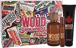 Fragrances, Perfumes, Cosmetics Dsquared2 Wood Pour Homme - Set (edt/100ml + edt/10ml + sh/gel/150ml)