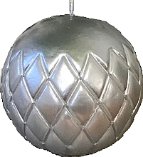 "Fragrances, Perfumes, Cosmetics Decorative Candle ""Lacquer Ball"" silver, 12cm - Artman Florence"