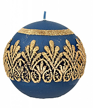 Fragrances, Perfumes, Cosmetics Decorative Candle, ball, blue, 10 cm - Artman Koronka Lace Christmas