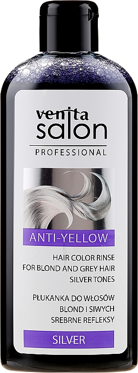 Blonde & Gray Hair Conditioner - Venita Salon Anty-Yellow Blond & Grey Hair Color Rinse Silver