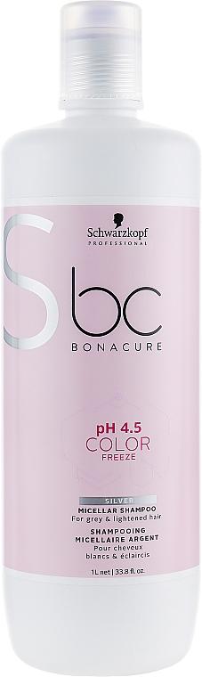 Silver Shampoo for Blonde Hair - Schwarzkopf Professional Bonacure Color Freeze pH 4.5 Silver Shampoo — photo N3