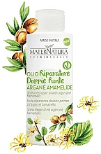 Fragrances, Perfumes, Cosmetics Split Ends Argan Oil with Witch Hazel Leaf Extract - MaterNatura