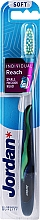 Fragrances, Perfumes, Cosmetics Soft Toothbrush with Cap, dark blue-green - Jordan Individual Reach Soft