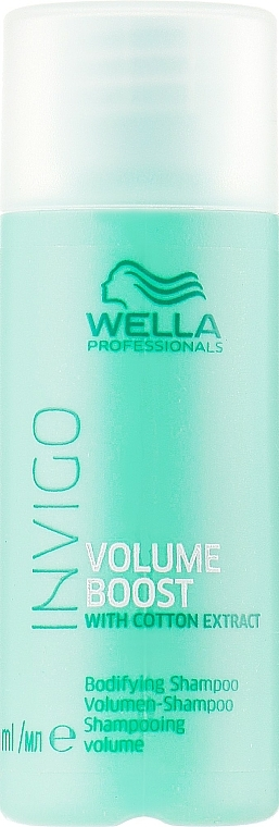 Volume Hair Shampoo - Wella Professionals Invigo Volume Boost Bodifying Shampoo