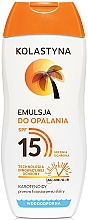 Fragrances, Perfumes, Cosmetics Tan Emulsion - Kolastyna Emulsion SPF 15