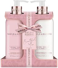 Fragrances, Perfumes, Cosmetics Set - Baylis & Harding Jojoba, Vanilla & Almond Oil (h/wash/300ml + h/b/lot/300ml)