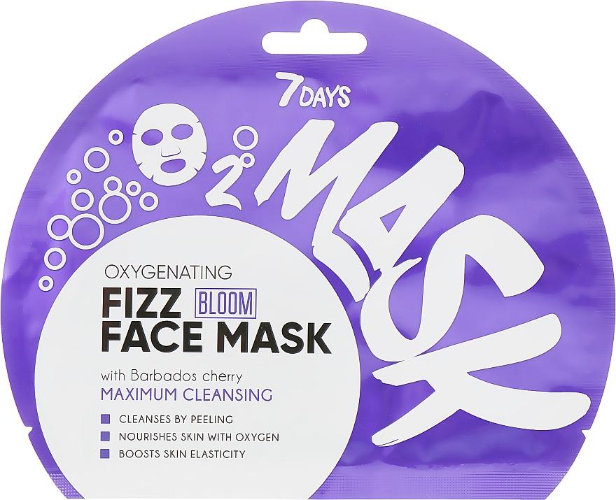 Oxygenating Fizz Face Mask - 7 Days Bloom Maximum Cleansing Sheet Mask