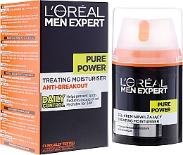 Fragrances, Perfumes, Cosmetics Anti-Breakout Face Gel-Cream - L'Oreal Paris Men Expert Pure Power