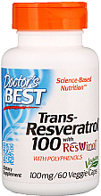 Fragrances, Perfumes, Cosmetics Trans-Resveratrol with ResVinol, 100mg, capsules - Doctor's Best