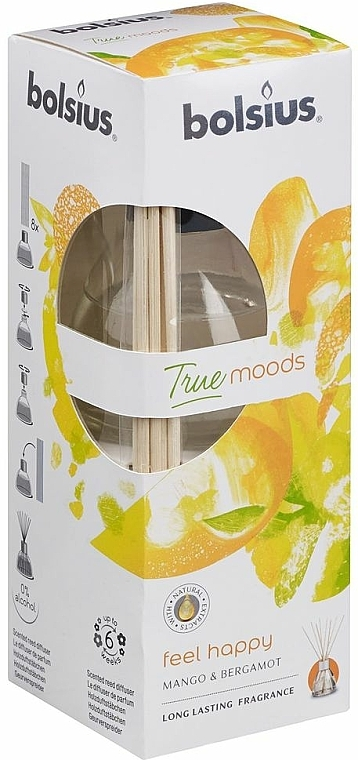 "Fragrance Diffuser ""Mango and Bergamot"" - Bolsius Fragrance Diffuser True Moods Feel Happy"