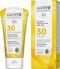 Fragrances, Perfumes, Cosmetics Face Sunscreen Cream - Lavera Sensitive Sun Cream Anti-Age SPF 30