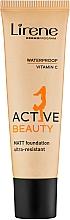 Fragrances, Perfumes, Cosmetics Foundation - Lirene Active Beauty Matt Foundation Ultra-Resistant