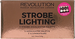 Fragrances, Perfumes, Cosmetics Face Highlighter Palette - Makeup Revolution 3 Strobe Highlighter Palette