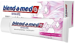 """Fragrances, Perfumes, Cosmetics Toothpaste """"Whitening for Sensitive Teeth"""" - Blend-a-Med 3D White Whitening Therapy Sensitive"""