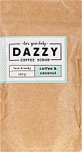 "Fragrances, Perfumes, Cosmetics Coffee Face and Body Scrub ""Coffee and Coconut"" - Dazzy Coffee Face & Body Scrub Coffee & Cocos"