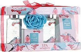 Fragrances, Perfumes, Cosmetics Set - Spa Moments Vanille Noire (sh/gel/100ml+sh/gel/100ml+salf/50+soap/50g+sh/sponge)