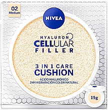 Fragrances, Perfumes, Cosmetics Cushion - Nivea Hyaluron Cellular Filler 3in1 Care Cushion SPF 15