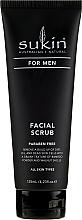Fragrances, Perfumes, Cosmetics Face Scrub - Sukin For Men Facial Scrub