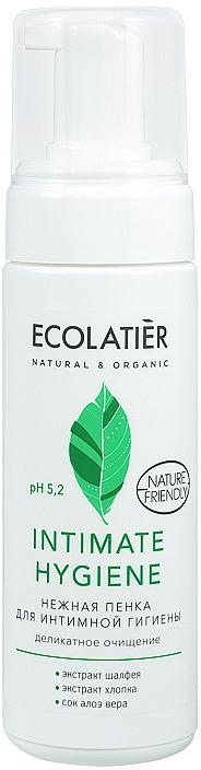 Gentle Sage & Cotton Intimate Hygiene Wash Foam - Ecolatier Intimate Hygiene