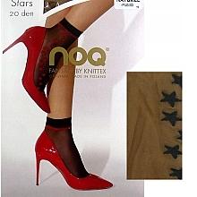 "Fragrances, Perfumes, Cosmetics Women Socks ""Stars"", 20 Den, naturel/fumo - Knittex"