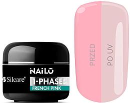 Fragrances, Perfumes, Cosmetics Nail Gel Polish - Silcare Nailo 1-Phase Gel UV French Pink
