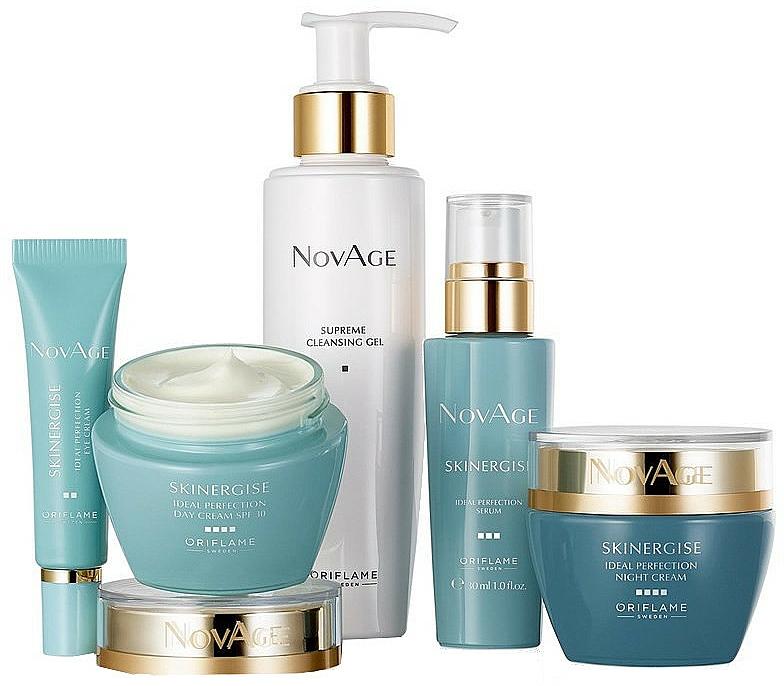 Set - Oriflame NovAge Skinergise Set (gel/150ml+eye/cr/15ml+ser/30ml+day/cr/50ml+/night/cr/50ml)