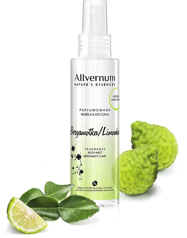 "Scented Body Spray ""Bergamot Lime"" - Allverne Nature's Essences Body Mist"