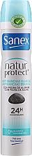 "Fragrances, Perfumes, Cosmetics Antiperspirant Deodorant ""Invisible Protect"" - Sanex Natur Protect 0% Antimanchas Deo Spray"