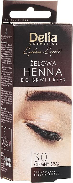Brow Tint Gel, dark brown - Delia Eyebrow Tint Gel ProColor 3.0 Dark Brown