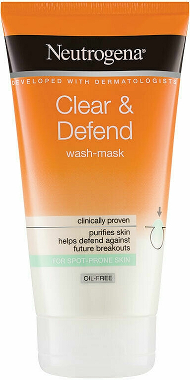 2-in-1 Face Mask - Neutrogena Clear & Defend 2 in 1 Wash-Mask — photo N1