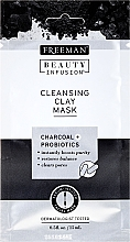 Fragrances, Perfumes, Cosmetics Cleansing Face Mask with Activated Carbon, Probiotics and Serum - Freeman Beauty Infusion Cleansing Clay Mask Charcoal & Probiotics (mini size)
