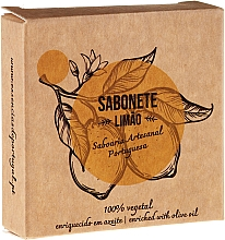 """Fragrances, Perfumes, Cosmetics Natural Soap """"Lemon"""" - Essencias De Portugal Senses Lemon Soap With Olive Oil"""