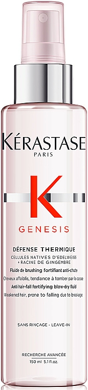 Strengthening Loss-Prone Heat Protection Hair Fluid Spray - Kerastase Genesis Anti Hair-Fall Fortifying Blow-dry Fluid