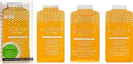 "Fragrances, Perfumes, Cosmetics Pedicure Set ""Lemon"" - Voesh Pedi In A Box 3 In 1 Deluxe Pedicure Lemon Quench"