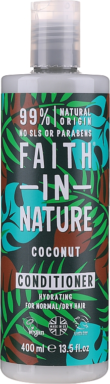 """Normal and Dry Hair Conditioner """"Coconut"""" - Faith In Nature Coconut Conditioner"""