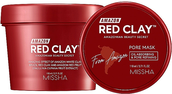 Red Clay Face Mask - Missha Amazon Red Clay Pore Mask