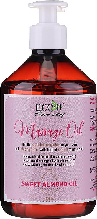 Massage Oil - Eco U Massage Oil Sweet Almond Oil