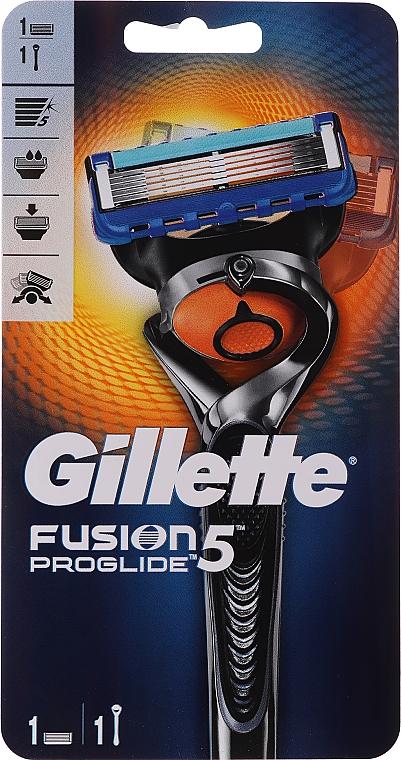 Shaving Razor with 1 Refill Cartridge - Gillette Fusion ProGlide Flexball