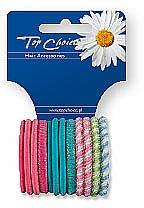 Fragrances, Perfumes, Cosmetics Elastic Hair Bands, 21985, color mix, 12 pcs - Top Choice